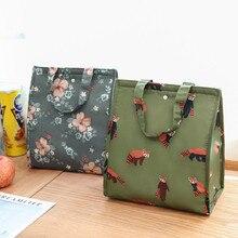 Новая Брендовая женская переносная Термосумка для пищи, сумка для пикника, сумка-холодильник