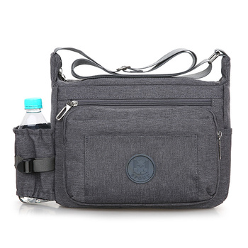 Vintage Men Business Bags Fashion Waterproof Nylon Messenger Bags Casual Male Large Capacity Crossbody Travel Shoulder Bag augur high quality male canvas messenger bag waterproof 15 large travel shoulder crossbody bags for men s classic laptop bags