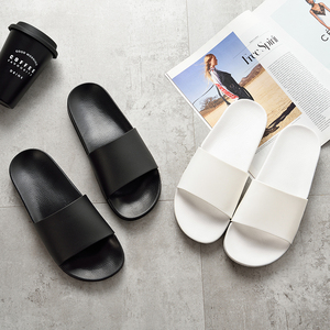 Image 5 -  Black Slippers Black and White Shoes Non slip Slides Bathroom Summer Casual Style Soft Sole Flip Flops