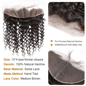 Wigirl 28 30 32 34 40 дюймов бразильские волосы плетение 3 4 пряди с 13x4 кружевной фронтальной и закрытия Remy глубокая волна 100% человеческие волосы