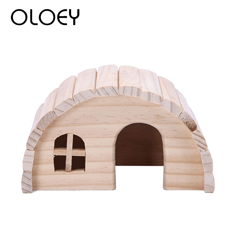 Hamster Toys Wooden Cage House Seesaw Brige For Rabbit Chinchilla Guinea Pig Bird Parrot Hamsters Pet Toy Decoration Product