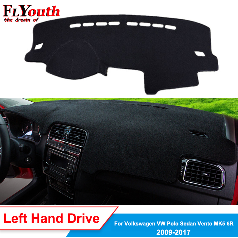 Car Dashboard Cover For Volkswagen Polo Sedan Vento MK5 6R 2009 - 2017 Dash Mat Dash Board Pad Carpet Dashmat Anti-UV Non-slip
