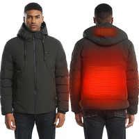 Mode hommes femmes électrique veste chauffante manteau Chauffant USB Gilet thermique chaud chauffé Gilet pêche hiver veste Gilet Chauffant