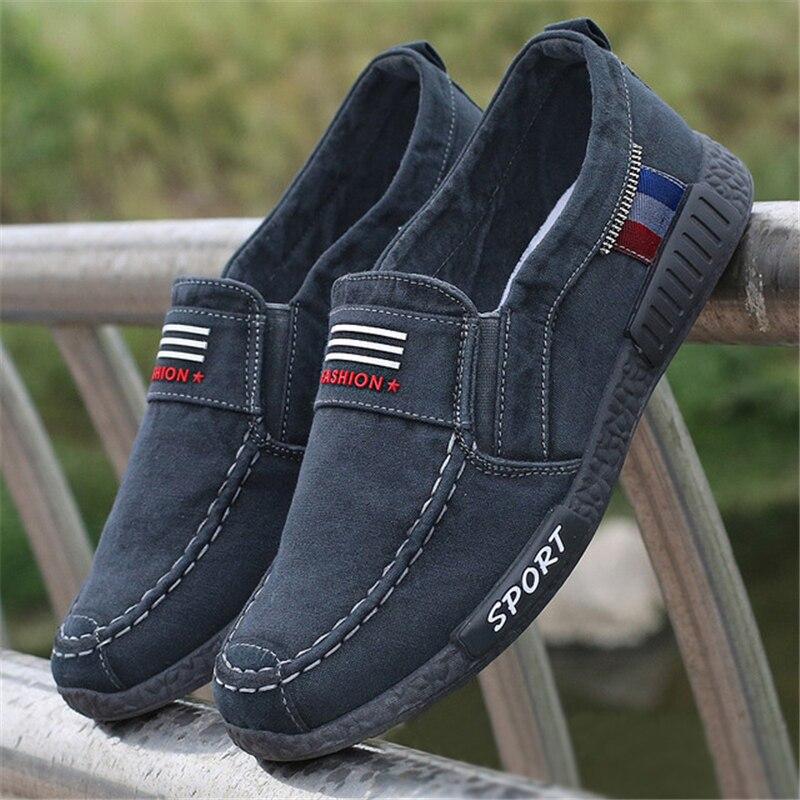 Sapatos em Denim Confortáveis para Homens Masculinos Calçados Casuais Tendência Tamanho Grande 45 46