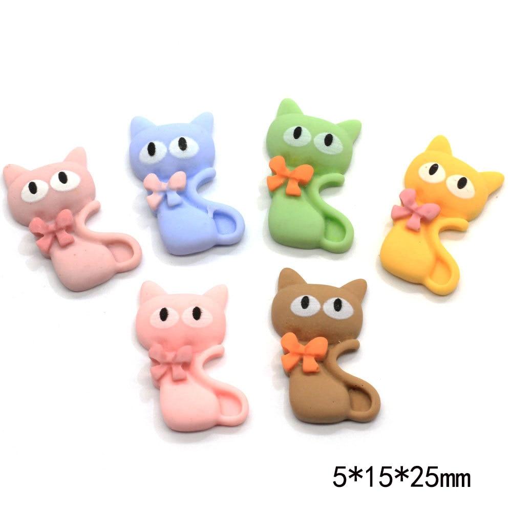 20Pcs Korean Hot Cute Fox Flatback Resin Cabochons Embellishments For Scrapbook Craft DIY Hair Bow Clips Phone Accessories
