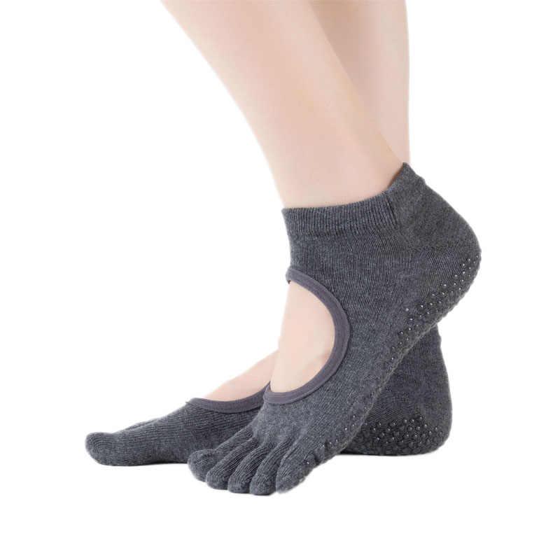 3 sztuk skarpety jogi dla kobiet antypoślizgowe bez pleców, z wycięciem toe dozowania nowe pięciopalcowe skarpety sportowe damskie skarpetki do tańca #2L5