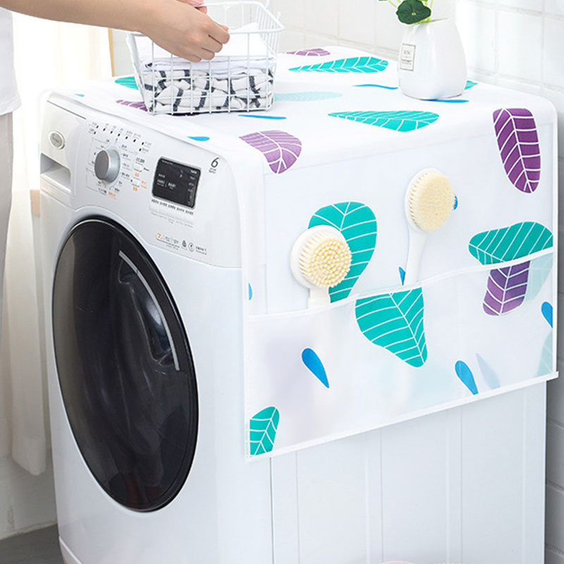 Dust Proof Cover Colorful Refrigerator Pocket Multipurpose Dust Cloth Home Textile Washing Machine Cover Household Home Storage