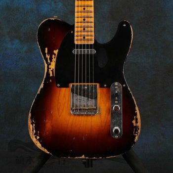 Sunburst handed relics electric guitar , make all kinds of guitars , high qulity Chinese relics guitar фото