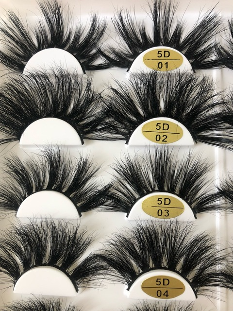 25 Mm Mink Eyelashes Faux 3d Mink Lashes Bulk Wispy Strips False Eyelashes Natural Extensions Individual Fake Lashes Fluffy 1