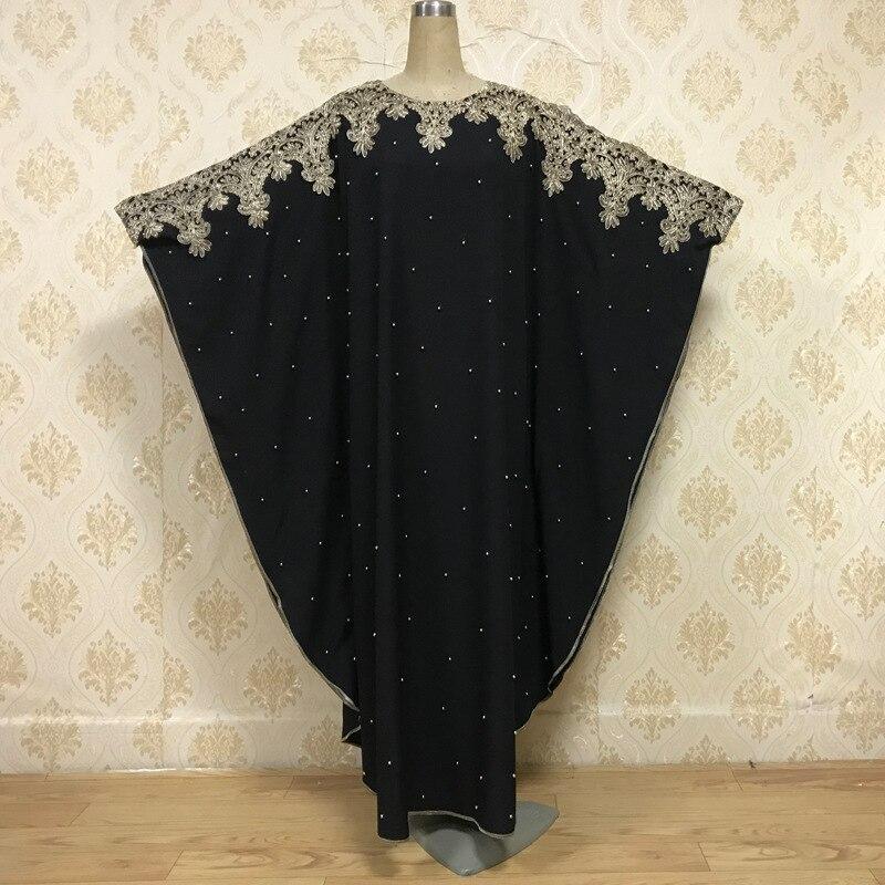 Muslim Kaftan Abaya Dresses Tunic Ramadan Islamic Women Batwing Sleeve Lace Beading Loose Outwear Caftan Dubai Arab Long Robe