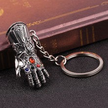 The Avengers Thanos Infinity Glove Gauntlet Keychain Anime Key Ring For Gift Key Chain Jewelry Fashion Jewelry Keyring Women Gif(China)