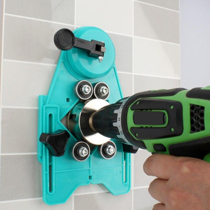 Adjustable Masonry Drill Bit Set Ceramic Tile Glass Hole Drill Guide Openings Locator Ceramic Cutter Construction Tools