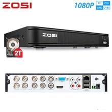 ZOSI – 1080P TVI AHD CVI CVBS 8 canaux hybride 4-en-1 HD TVI DVR, HDMI, réseau P2P, application Mobile gratuite pour système de sécurité, disque dur 2 to