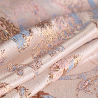 145CM Wide Jacquard Polyester Purple Pink Fabric for Autumn and Spring Dress Coat Jacket DE1129