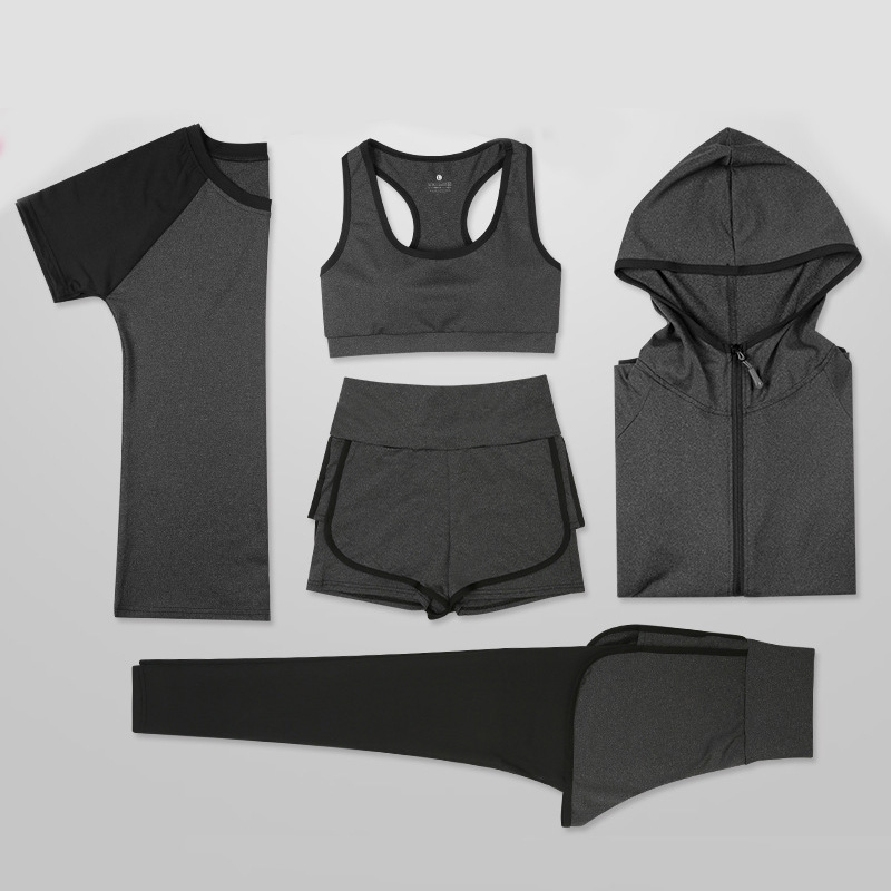 G-SHOW 2019 Yoga Sets Women's Jogging Gym Sports Suits Elastic Quick Dry Running Sportswear Fitness Training Clothes 2- 5pcs