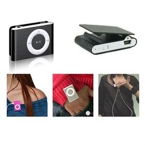 Image 4 - 1PCs Mini Tragbare USB MP3 Player Mini Clip MP3 Wasserdichte Sport Compact Metall Mp3 Musik Player mit TF Karte slot Candy Farben