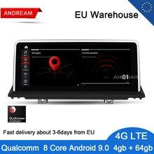 """Andream 10,2"""" Android 9,0 Qualcomm 8 ядерный автомобильный мультимедийный плеер для BMW E70 E71 E72 X5 X6 Bluetooth gps навигация головное устройство"""