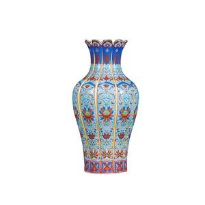 Image 2 - 龍鄭清dynastyenamelゴールド蓮の花でメロン花瓶アンティーク磁器