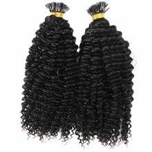 Кудрявые и кудрявые волосы для наращивания предварительно скрепленные