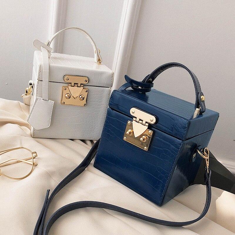 Женская сумка-тоут из ПУ кожи, с замком