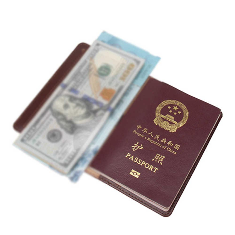 Seyahat Pasaport Kapağı Cüzdan Travelus İşlevli Kredi Kartı Paketi KIMLIK Tutucu Depolama Organizatör Debriyaj Para Çantası