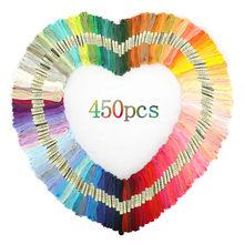 Multicolorido bordado fio ponto cruz fio fios algodão costura skeins skein kit diy ferramenta de costura 50/100/150/200/250/450 peças