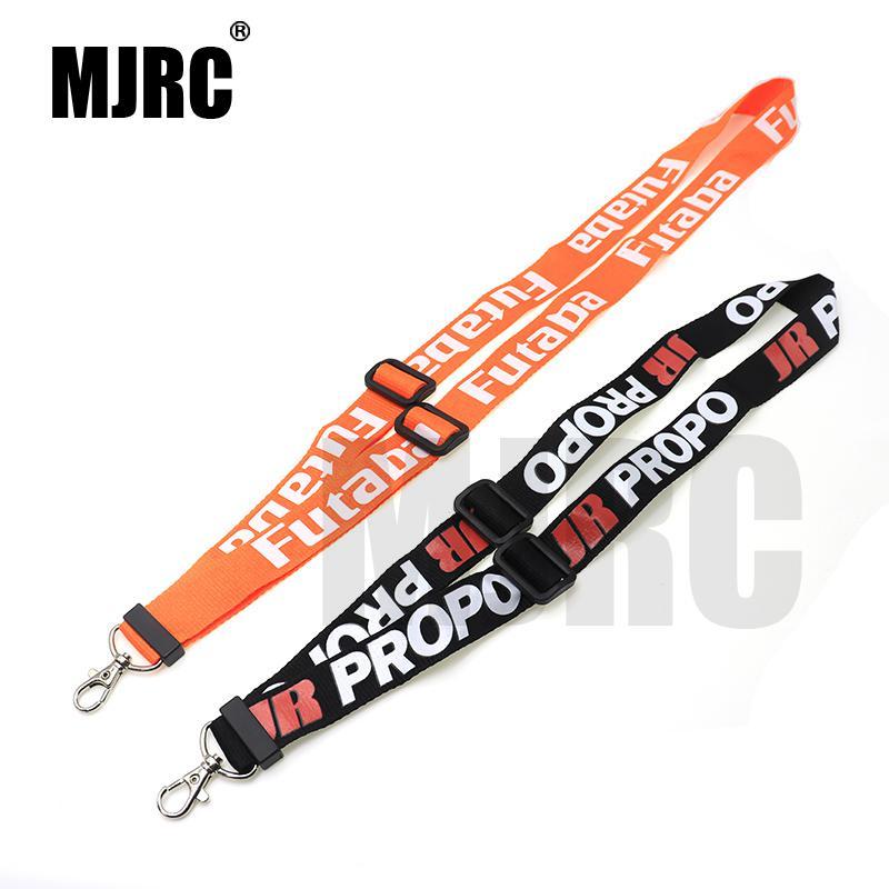 Piezas de control remoto de correa de cordón ajustable para JR PRO Propo, transmisor de control remoto FPV para Futaba, cinturones de cuello negro y naranja de 14cm