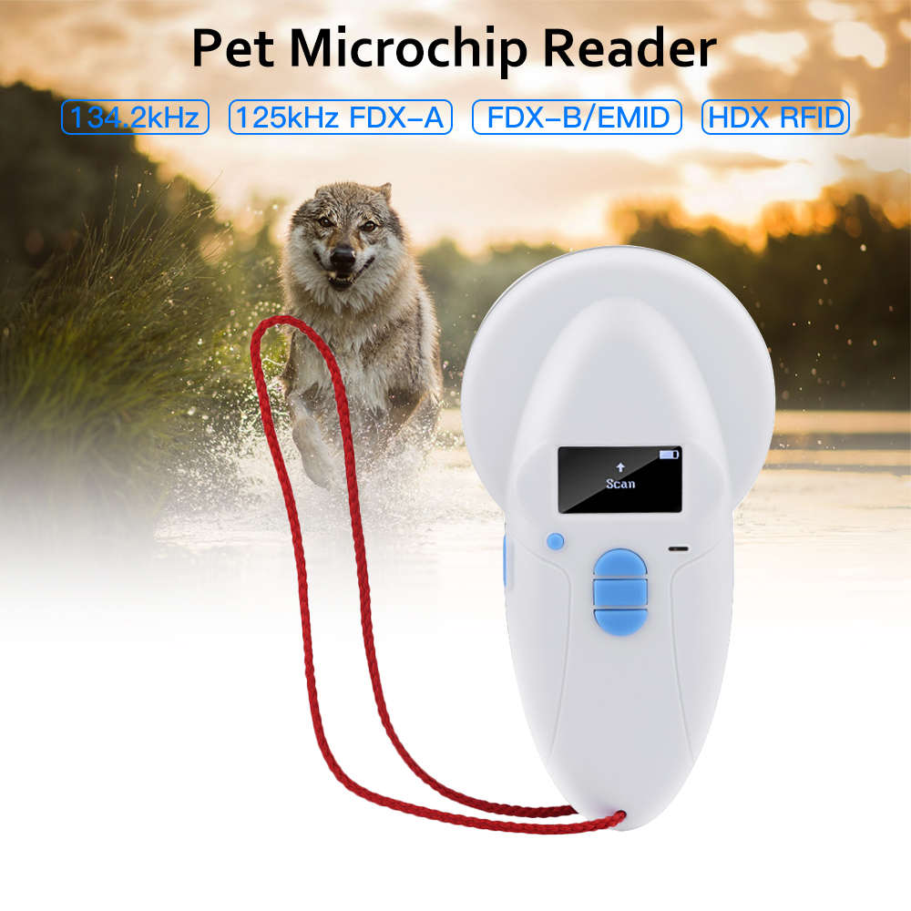 ISO11784_5 FDX B Animal Pet Id Reader Chip Transponder USB RFID Handheld Microchip Scanner Dog,cats,horse Pet Microchip Scanner