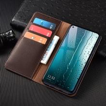 Litchi Texture Genuine Leather Wallet Magnetic Flip Cover For XiaoMi Mi 5x 6x A1 A2 A3 8 9 SE 9T 10 10T 11 CC9 CC9E Plus Case
