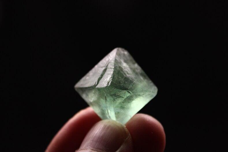 Fluorite Octahedron Jewelry-Making Raw-Gemstone Natural Crystal Pendant 1pcs Ore