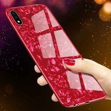 Luxury Phone Case For apple iPhone X XS XR MAX Case Tempered Glass Hard Conch Shell Cover For iPhone 6 6s 7 8 Plus Case hard shell case cover for iphone 6s 6 dream catcher