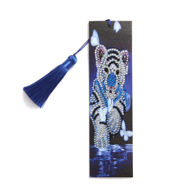 Lovely Small Baby Tiger Diamond Painting Bookmark for Readers Students Special Shaped Diamond Embroidery Cross Stitch Stationery(China)
