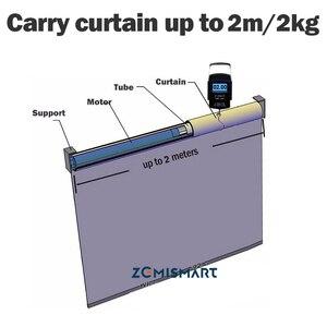 Image 4 - Zemismart ממונע Windows רולר צל עיוור מנוע עבור 28mm צינור צינורי וילון מנוע DC12V RF433 לעבוד עם Broadlink