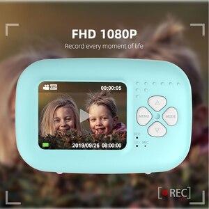 Image 3 - 1080P インスタントスナッププリント子供ミニカメラビデオ Vlog デジタルビデオカメラ 2.0 インチ HD 画面写真撮影ビデオカメラ子供のギフト