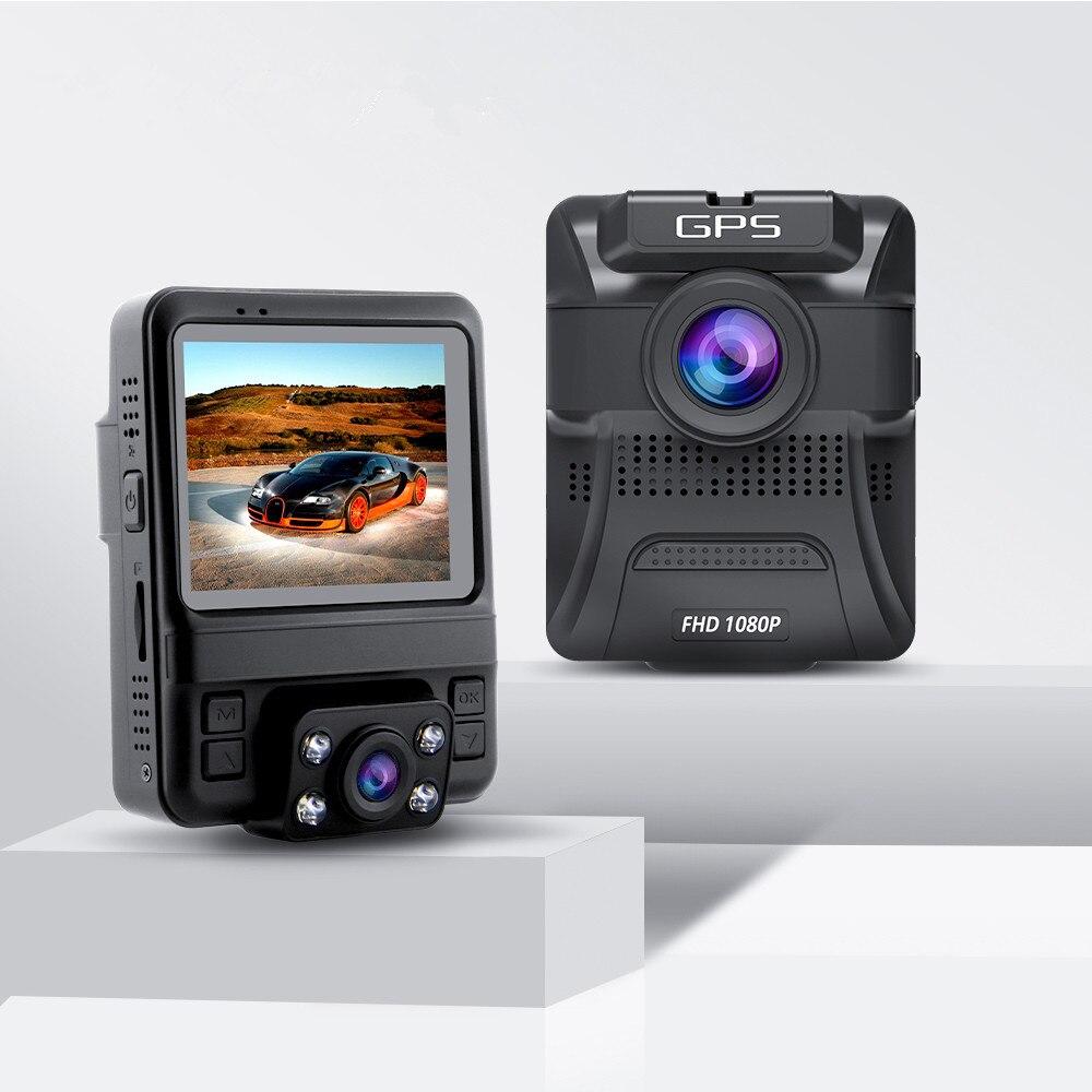 AZDOME GS65H Автомобильный регистратор мини с двумя объективами видеорегистратор Full HD 1080P/720P зеркало заднего вида ночное видение GPS для Uber Lyft такс...