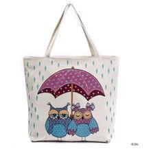 Сумка-тоут для покупок с совой, жаккардовая Холщовая Сумка на плечо, Женская Туристическая сумка с вышивкой в национальном стиле, сумки для покупок