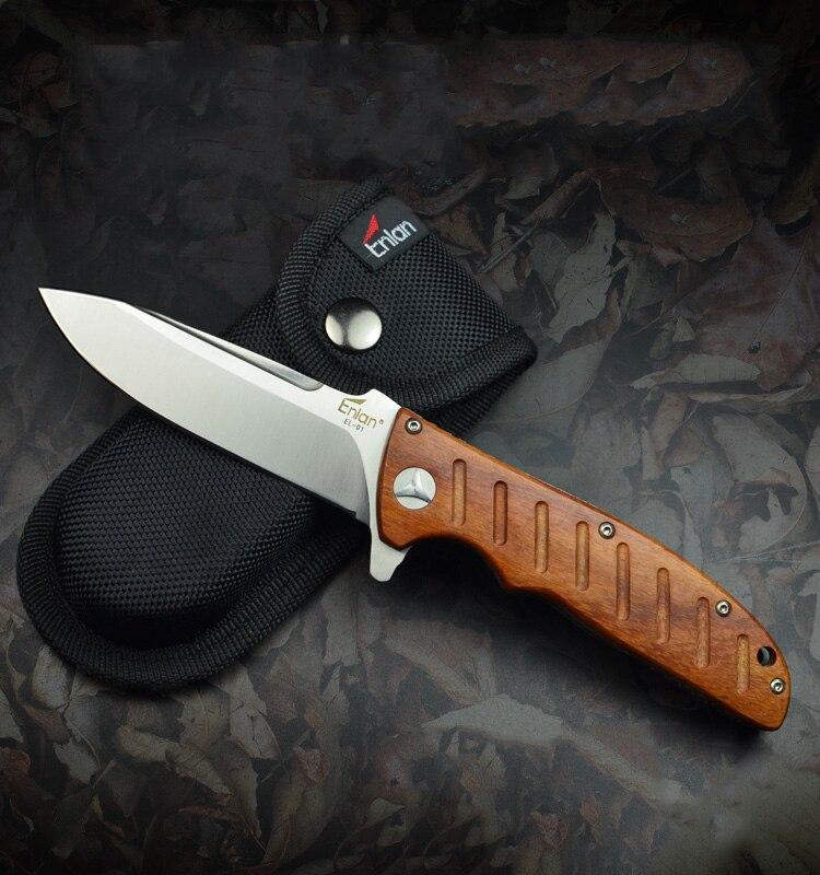 ENLAN EL01 Wood Handle Folding KNIFE