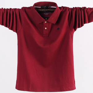 Image 5 - 4XL 5XL גדול גודל זכר פולו חולצות רחב מימדים 95% כותנה סתיו חורף גדול וגבוה Mens מותג בגדים אדום אפור ירוק שחור כחול