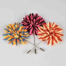 Leaf Shape Lapel multiple c Lapel multiple colors  Handmade Boutonniere Stick Brooch Pin Men Brooch Lapel Pin For  Wedding Party small daisy shaped corsage multiple colors handmade boutonniere stick brooch pin men brooch lapel pin for wedding party