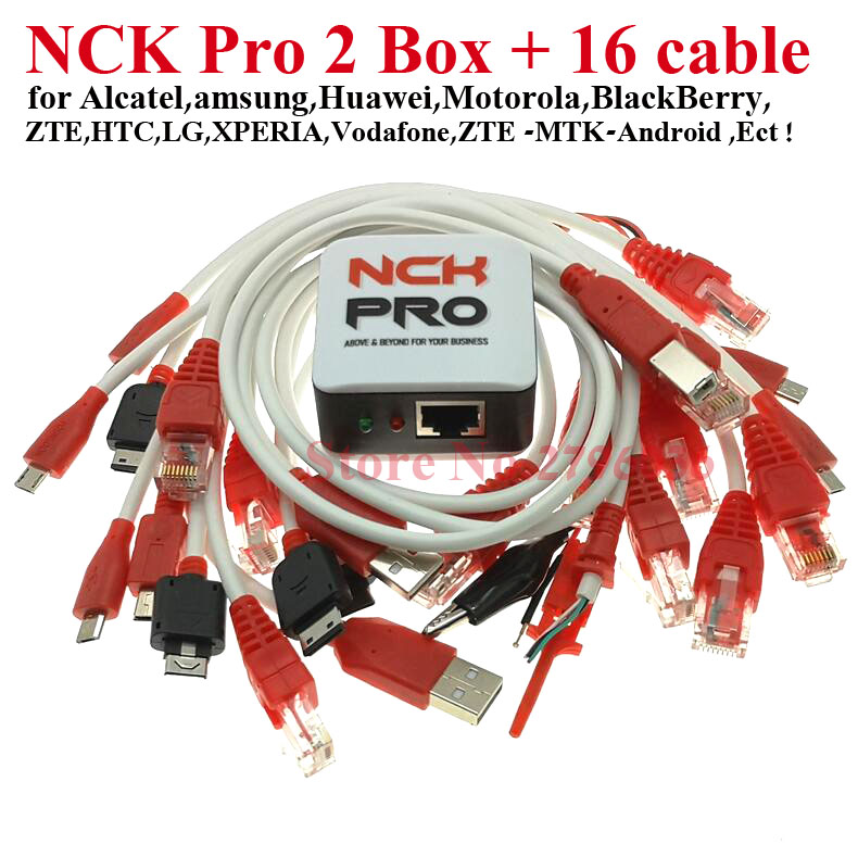 2020 Version 100% Original NCK Pro Box NCK Pro2 Box ( NCK Box+UMT Box 2 In1 )+16 Cables Free Shipping