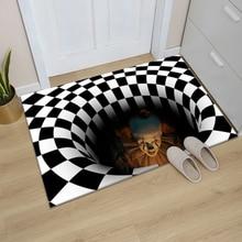 3D вихревой иллюзионный коврик для входной двери, напольный коврик, прямоугольный нескользящий коврик для ног, домашний ковер для прихожей, ...