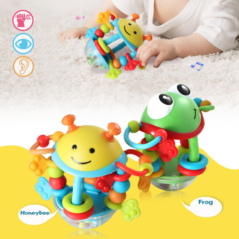 Multifunction Toddler Boy Toys For Baby 0-12 Month Cute Animal Baby Rattle Toy Bell Baby Toys Newborn Kids Babies Sensory Toys