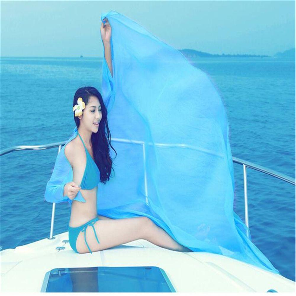 Hot Selling Women Sexy Chiffon   Wrap   Dress Sarong Pareo Beach Bikini Swimwear Cover Up   Scarf