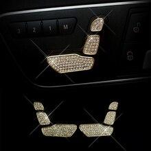 For Mercedes Benz C E ML GL GLK CLS Class W204 W212 W166 X204 Crystal Style Seat Adjust Buttons Trim
