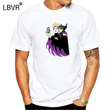 Wicked Selfie Evil Queen Maleficent Villains Black T-Shirt Snow White S-3Xl Fashion Cool Tee Shirt(China)