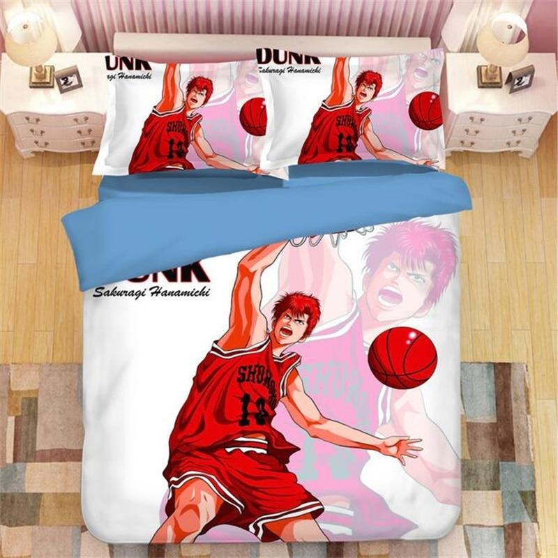 Japanese Anime SLAM DUNK Basketball Bedding Twin Full Queen Super King Single Double Size Duvet Cover Set For Boys Room Teenager