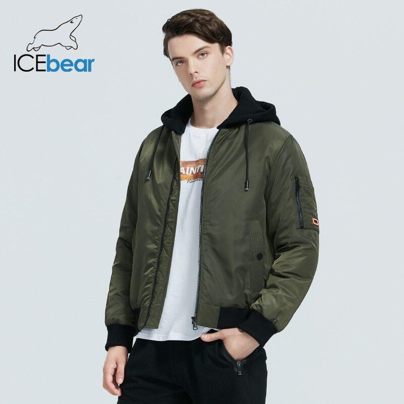 ICEbear 2020 winter men's jacket casual hooded jacket new fashion cotton coat brand male brand clothing MWD20875I