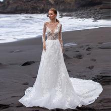 Thinyfull кружевные пляжные свадебные платья иллюзия бохо с