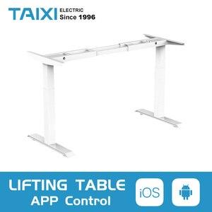 Image 1 - Computer da tavolo di sollevamento elettrico per bambini da tavolo colonna di sollevamento gambe gambe mobili tavolo scrivania intelligente staffa di sollevamento regolabile in altezza