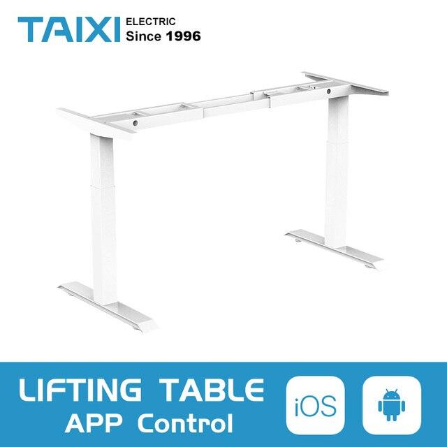 Elektryczny stolik pod komputer podnoszenia dzieci kolumna podnoszenia nogi do stołu meble stół biurko inteligentny regulowana wysokość podnoszenia uchwyt